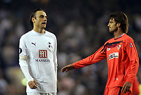 Photo: Paul Thomas.<br /> Tottenham Hotspur v Sevilla. UEFA Cup. Quarter Final, 2nd Leg. 12/04/2007.<br /> <br /> Dimitar Berbatov shows his dejection at the end of the game.