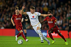 MILTON KEYNES, ENGLAND - Wednesday, September 25, 2019: MK Dons' Regan Poole during the Football League Cup 3rd Round match between MK Dons FC and Liverpool FC at Stadium MK. (Pic by David Rawcliffe/Propaganda)