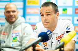 Miha Verdnik and Janez Slivnik during press conference of Slovenian Alpine Ski team and coaching team for new season 2019/20, on May 6th, 2019, in SZS, Ljubljana, Slovenia. Photo by Vid Ponikvar / Sportida
