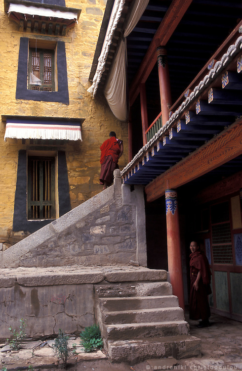 Monastery yard..LAMBRANG MONASTERY IN XIAHE - CHINA.copyright: Androniki Christodoulou.
