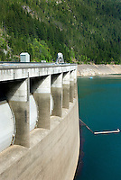 Ross Dam on the Upper Skagit River Washington