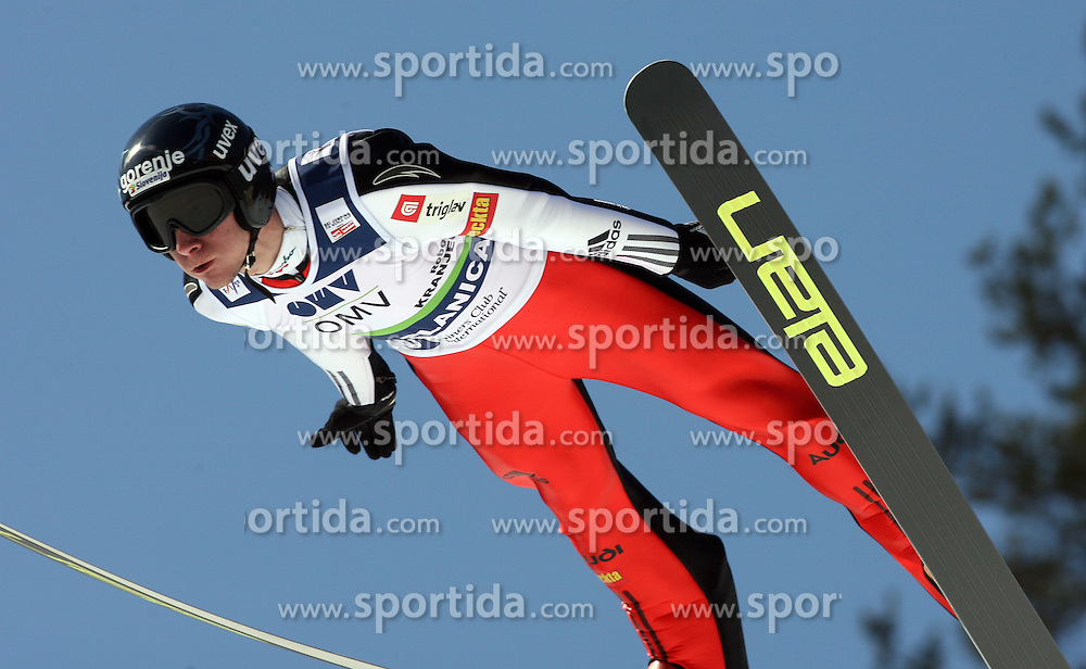 Robert Kranjec placed third (SLO) at Flying Hill Individual in 4th day of 32nd World Cup Competition of FIS World Cup Ski Jumping Final in Planica, Slovenia, on March 22, 2009. (Photo by Vid Ponikvar / Sportida)
