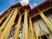 30 JANUARY 2016 - NONTHABURI, NONTHABURI, THAILAND: The viharn or main prayer hall at Wat Bua Khwan, a large Buddhist temple in Nonthaburi, north of Bangkok, Thailand.        PHOTO BY JACK KURTZ