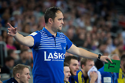 Branko Tamise coach of RK Celje Pivovarna Lasko during EHF Champions eague 2016/17 handball match between HC Prvo Plinarsko Drustvo Zagreb and RK Celje Pivovarna Lasko, on March 9th, 2017 in Arena Zagreb, Croatia. Photo by Martin Metelko / Sportida
