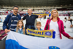 NK Domzale fans before 2nd Leg football match between West Ham United FC and NK Domzale in 3rd Qualifying Round of UEFA Europa league 2016/17 Qualifications, on August 4, 2016 in London, England.  Photo by Ziga Zupan / Sportida