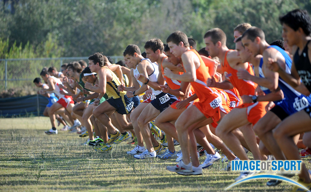 """Sep 6, 2008; Irvine, CA, USA; The start of the mens """"A"""" race in the UC Irvine Invitational at the Anteater Recreation Center Fields."""