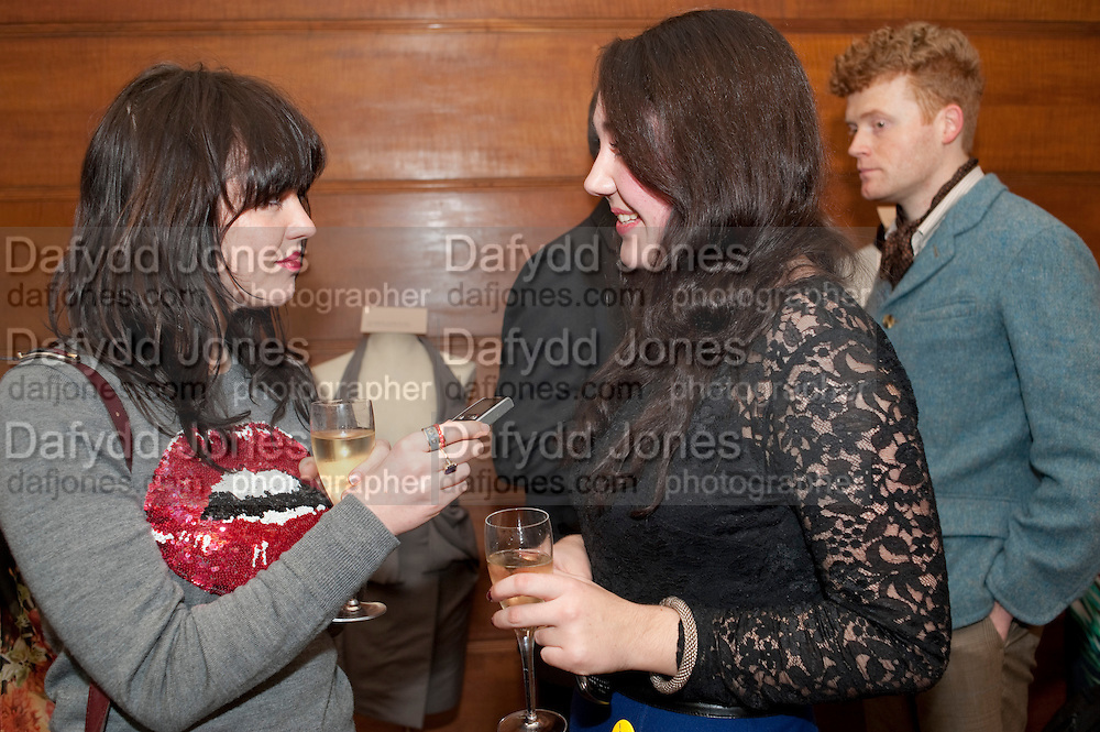 ALANNAH SPARKS; KATY DAWE,  Art Against Knives charity auction , Town Hall Hotel in Bethnal Green, London. 15 December 2011