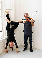 Riannach Ní Néill, Dancer and Dermot McLaughlin, CEO, Temple Bar Cultural Trust - Culture Night Director  at the launch of the Gaeltacht Programme for Culture Night.  'Oíche Chultúir' features over 60 free cultural events throughout the Gaeltacht regions on the evening of Friday September 24th. Photo:Andrew Downes. Photo issued with Compiments, no reproduction fee.