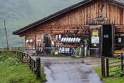 THEMENBILD - Milchkannen vor der Scheune. Die bewirtschaftete Alm, wo rund 800 Schafe und 55 Milchkühe im Sommer sind, besteht seit dem Jahre 1779 und wird von der Familie Aberger Dick geführt, Sie liegt unmittelbar bei den Kapruner Hochgebirgsstauseen, aufgenommen am 16. Juni 2017, Fürthermoar Alm, Kaprun, Österreich // Milk cans in front of the barn. The Fuerthermoar Alm, where around 800 sheep and 55 dairy cows are in summer and is directly next to the Kaprun Hochgebirgsausauseen. The Mountain Hut exists since 1779 and is owned by the family Aberger Dick, taken on 2017/06/16, Kaprun, Austria. EXPA Pictures © 2017, PhotoCredit: EXPA/ JFK