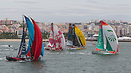 PORTUGAL, Lisbon. 9th June 2012. Volvo Ocean Race, Oeiras In-Port Race. Start.