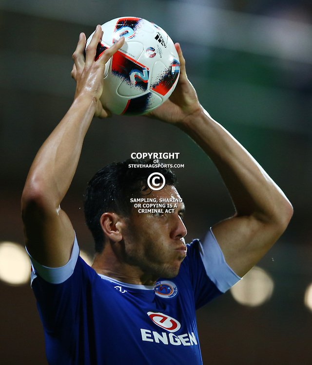 Michael Boxall of SuperSport United during the 2016 Premier Soccer League match between Supersport United and The Free Stat Stars held at the King Zwelithini Stadium in Durban, South Africa on the 24th September 2016<br /> <br /> Photo by:   Steve Haag / Real Time Images