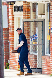 "EXCLUSIVE: Justin Timberlake takes on the role of Janitor as he starts filming for his new movie 'Palmer'. Justing could be seen, on his first day of filming, wearing overalls and a cap, with a large scar above his eye, while taking his on-screen 'step-son' to the store. He was also spotted giving acting tips to the little budding actor as they filmed their first scenes together. Justin was spotted driving a car before picking up a violin from the post office, and could also be seen being instructed by by director Fisher Stevens. In the movie, Justin is an ex high school football star, gets a scholarship to a big school, gets injured, gets addicted to pain killers. This is all backstory,"" Fisher explains elevator pitch-style. ""Comes back home, thrown out of school and gets into a lot of trouble, tries to rob a very rich family in town, gets caught, attempted manslaughter. ""He's getting out of jail 10 years later, comes to live with his grandmother. Next door is a beautiful 30-year-old woman who's a meth addict, who has an eight-year-old boy, who likes to play with dolls and dress up as a girl in red state America. Justin's grandmother is co-parenting this boy with the meth addict mom who is always off trying to cop dope."" Palmer,"" written by Cheryl Guerriero, is about a former college football phenomenon who, after a stint in prison, returns to his hometown to get his life back on track. There, he faces not only lingering conflicts from his past but also a much more surprising challenge as he finds himself suddenly in charge of a unique young boy who has been abandoned by his wayward mother. 06 Nov 2019 Pictured: Justin Timberlake. Photo credit: MEGA TheMegaAgency.com +1 888 505 6342"