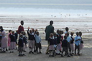 Nov. 24, 2006. LAKE NAKURU NATIONAL PARK, Kenya &nbsp;?&nbsp; African children visit the lake and get surprised when they find out that the famous flamingos of Nakuru are dying, in a shrinking lake, and the cause is still to be determined. Where as many as a million flamingos tinted the surface in a pinkish tone, now hundreds of flamingo carcasses decorate the shoreline.<br />