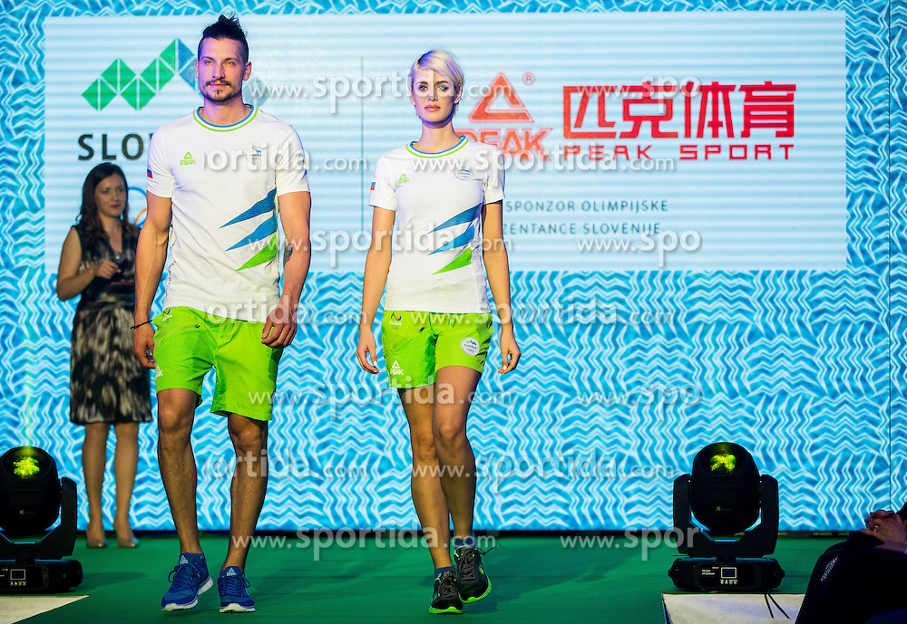 Models during official presentation of the Designer wear for Slovenian Athletes at Rio Summer Olympic Games 2016, on April 15, 2016 in Hotel Lev, Ljubljana, Slovenia. Photo by Vid Ponikvar / Sportida