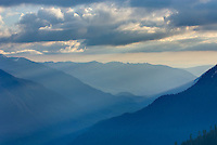 Upper Nooksack River valley seen from the summit of Goat Mountain, North Cascades Washington USA