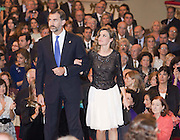 26.OCTOBER.2012. OVIEDO<br /> <br /> PRINCE OF ASTURIAS AWARDS CEREMONY HELD IN SPANISH CITY OF OVIEDO. THE HIGHEST AWARD NATIONWIDE, THE PRINCE OF ASTURIAS AWARDS, TOOK PLACE AT THE CAMPOAMOR THEATRE IN OVIEDO. IT'S AN ATTEMPT TO HONOR GREAT INTERNATIONAL PERSONALITIES FOR THEIR CONTRIBUTIONS TO CULTURE, SCIENCE AND PEACE. WHICH IS PRESIDED OVER BY DON FELIPE DE BOURBON, THE PRINCE OF ASTURIAS AND THE HEIR TO THE SPANISH CROWN, AND HIS WIFE DONA LETIZIA .<br /> <br /> BYLINE: EDBIMAGEARCHIVE.CO.UK<br /> <br /> *THIS IMAGE IS STRICTLY FOR UK NEWSPAPERS AND MAGAZINES ONLY*<br /> *FOR WORLD WIDE SALES AND WEB USE PLEASE CONTACT EDBIMAGEARCHIVE - 0208 954 5968*