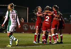 Bristol City Women celebrate Rosella Ayane's goal - Mandatory by-line: Robbie Stephenson/JMP - Mobile: 07966 386802 - 23/03/2016 - FOOTBALL - Stoke Gifford Stadium - Bristol, England - Bristol City Women v Yeovil Town Ladies - FA Women's Super League 2