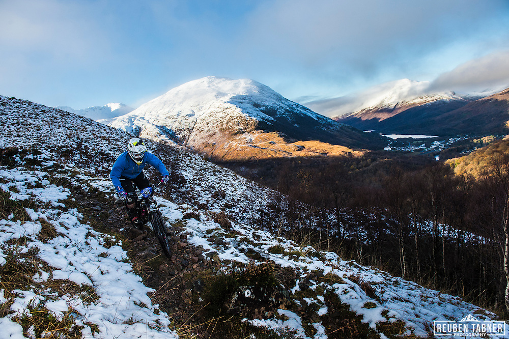 David Houston tackles stage one of the Kinlochleven Enduro.
