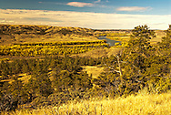 Missouri River, Charles M. Russell National Wildlife Refuge, Montana, Autumn