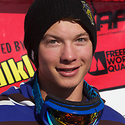 David Wise, USA, second place winner in the Men's Halfpipe Finals during The North Face Freeski Open at Snow Park, Wanaka, New Zealand, 3rd September 2011. Photo Tim Clayton..