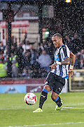 Yoan Gouffran during the Pre-Season Friendly match between York City and Newcastle United at Bootham Crescent, York, England on 29 July 2015. Photo by Simon Davies.