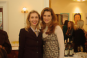 Allegra Hicks and Brooke Shields. Lunch party for Brooke Shields hosted by charles finch and Patrick Cox. Mortons. Berkeley Sq. 6 July 2005. ONE TIME USE ONLY - DO NOT ARCHIVE  © Copyright Photograph by Dafydd Jones 66 Stockwell Park Rd. London SW9 0DA Tel 020 7733 0108 www.dafjones.com