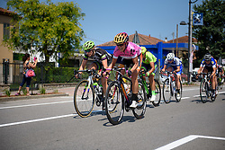 Evelyn Stevens (Boels Dolmans) sprints to ensure her race lead is protected at Giro Rosa 2016 - Stage 3. A 120 km road race from Montagnana to Lendinara, Italy on July 4th 2016.