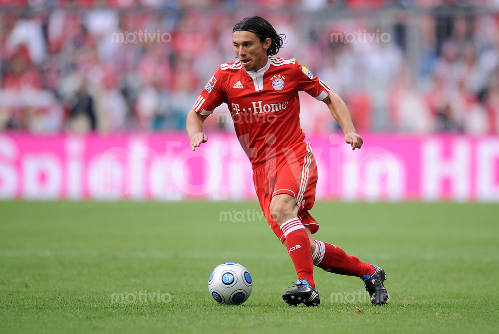 FUSSBALL     1. BUNDESLIGA     SAISON 2009/2010     29.08.2009 4 . Spieltag : FC Bayern Muenchen - VfL Wolfsburg Danijel Pranjic (FCB)