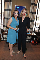 Left to right, TAJ GILES General Manager Creme de la Mer UK and RACHEL ETHERINGTON at a lunch to announce the partnership between Creme de la Mer and BLUE Marine Foundation held at Sotheby's 34-35 New Bond Street, London on 18th May 2012.