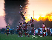 Carmarthen Quins' second row Haydn Pugh (Capt.) claims the line out.<br /> <br /> Photographer: Dan Minto<br /> <br /> Indigo Welsh Premiership Rugby - Round 12 - Llandovery RFC v Carmarthen Quins RFC - Saturday 28th December 2019 - Church Bank, Llandovery, South Wales, UK.<br /> <br /> World Copyright © Dan Minto Photography<br /> <br /> mail@danmintophotography.com <br /> www.danmintophotography.com