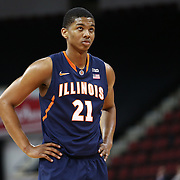 Malcolm Hill #21 of the Illinois Fighting Illini is seen during the NIT First Round game at Agganis Arena on March 19, 2014 in Boston, Massachusetts . (Photo by Elan Kawesch)