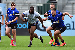 Beno Obano in action, Bath Rugby were allowed to start Stage Two of the Premiership Rugby return to play protocol - Mandatory byline: Patrick Khachfe/JMP - 07966 386802 - 06/08/2020 - RUGBY UNION - The Recreation Ground - Bath, England - Bath Rugby training