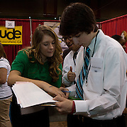 "During the International Trade Show , thousands of students from around the world exhibited and sold products and services of their virtual businesses in a competitive marketplace. The Trade Show was held at the 69th Regiment Armory in New York City during Virtual Enterprises International's Youth Business Summit on Thursday, March 29, 2012. Cat Greenleaf, NBC Universal Features Reporter and Host of NBC's ""Talk Stoop"" was this year's celebrity guest. The winners of the National Business Plan Competition were announced."