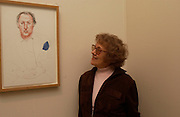 Silvia Katz. David Hockney exhibition opening, Annely Juda Gallery. 15 January 2003. © Copyright Photograph by Dafydd Jones 66 Stockwell Park Rd. London SW9 0DA Tel 020 7733 0108 www.dafjones.com