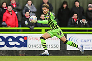 Forest Green Rovers Odin Bailey(42), on loan from Birmingham City runs forward during the EFL Sky Bet League 2 match between Forest Green Rovers and Walsall at the New Lawn, Forest Green, United Kingdom on 8 February 2020.