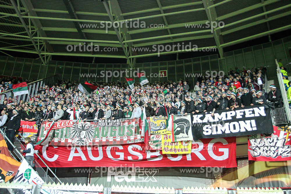 22.10.2015, WWK Arena, Augsburg, GER, UEFA EL, FC Augsburg vs AZ Alkmaar, Gruppe L, im Bild Fans (FC Augsburg) // during UEFA Europa League group L match between FC Augsburg and AZ Alkmaar at the WWK Arena in Augsburg, Germany on 2015/10/22. EXPA Pictures &copy; 2015, PhotoCredit: EXPA/ Eibner-Pressefoto/ Kolbert<br /> <br /> *****ATTENTION - OUT of GER*****