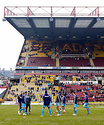 Sunderland players warm up ahead of the FA Cup 5th Round tie between Bradford City and Sunderland - Photo mandatory by-line: Matt McNulty/JMP - Mobile: 07966 386802 - 15/02/2015 - SPORT - Football - Bradford - Valley Parade - Bradford City v Sunderland - FA Cup - Fifth Round