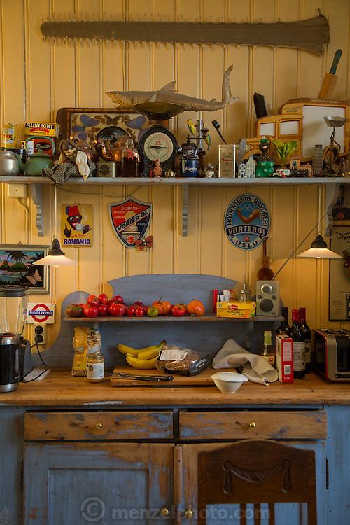 Apartment kitchen near St. Hanshaugen Park, Oslo, Norway