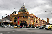 Australia, Melbourne entrance to Flinders Street Station