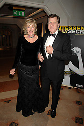 SIMON and ANNABEL ELLIOT she is the sister of HRH The Duchess of Cornwall at The Diner Des Tsars in aid of Unicef to celebrate the launch of Quintessentially Wine held at the Guildhall, London EC2 on 29th March 2007.<br />