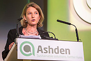 Sarah Butler-Sloss, Founder and Director of Ashden speaking at  the 2015 Ashden Awards ceremony held at the Royal Geographical Society, London. UK.