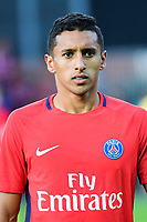 Marquinhos of PSG during the Ligue 1 match between EA Guingamp and Paris Saint Germain at Stade du Roudourou on August 13, 2017 in Guingamp, . (Photo by Dave Winter/Icon Sport)