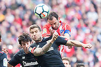 Atletico de Madrid Diego Godin and Athletic Club Inigo Martinez  during La Liga match between Atletico de Madrid and Athletic Club and Wanda Metropolitano in Madrid , Spain. February 18, 2018. (ALTERPHOTOS/Borja B.Hojas)