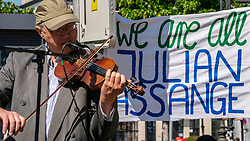 18-05-2019 GER: Berlin is the capital and largest city of Germany, Berlin<br /> <br /> Demonstration for the freedom of Julian Assange.
