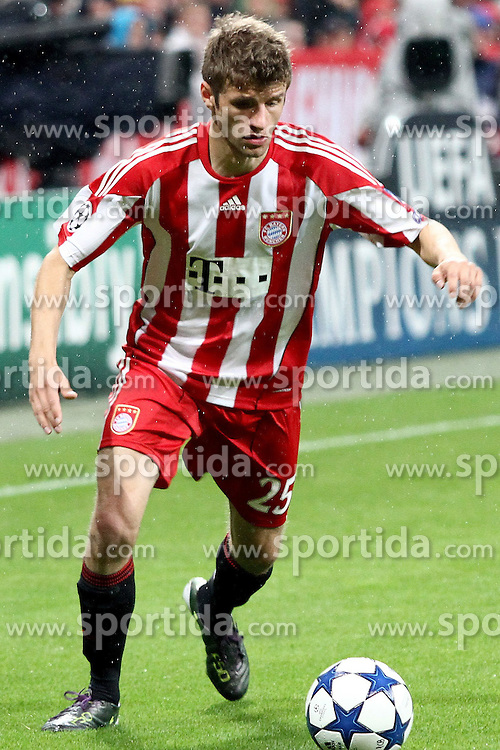 15.09.2010, Allianz Arena, Muenchen, GER, UEFA CL Gruppe E, FC Bayern Muenchen (GER) vs AS Rom (IT), im Bild Thomas Mueller (Bayern #25)  , EXPA Pictures © 2010, PhotoCredit: EXPA/ nph/  Straubmeier+++++ ATTENTION - OUT OF GER +++++ / SPORTIDA PHOTO AGENCY