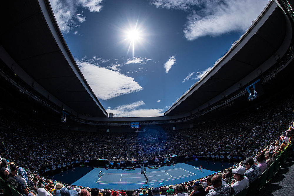 A general view of Rod Laver Arena on day two of the 2017 Australian Open at Melbourne Park on January 17, 2017 in Melbourne, Australia.<br /> (Ben Solomon/Tennis Australia)