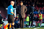 A dejected looking Grimsby Town Manager Michael Jolley  during the EFL Sky Bet League 2 match between Grimsby Town FC and Crawley Town at Blundell Park, Grimsby, United Kingdom on 17 November 2018.