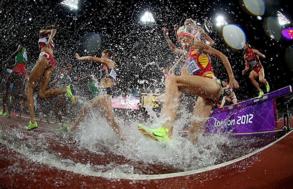 Marta Dominguez of Spain competes in the 3000m steeplechase final at track and field at the Olympic Stadium during day 10 of the London Olympic Games in London, England, United Kingdom on August 3, 2012..(Jed Jacobsohn/for The New York Times)...