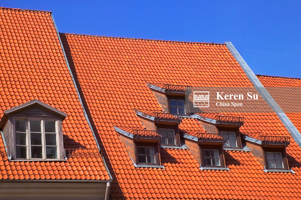 Red roofs of house, Riga, Latvia