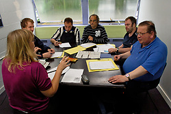 Literacy & numeracy class at Remploy factory; Forest Hall; Newcastle; UK 2007, Remploy provides specialist employment services to disabled people and those who face barriers to employment
